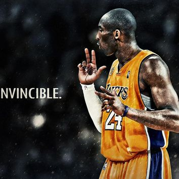 kobe bryant basketball nba player poster  number 1