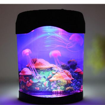 LED Artificial Jellyfish Aquarium Lighting Fish Tank Night Light Lamp