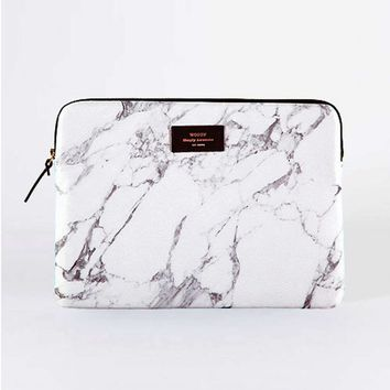 "White Marble 13"" Laptop Sleeve"