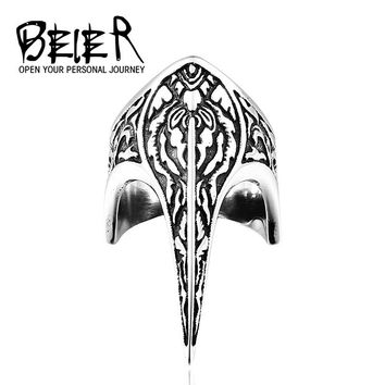 BEIER Unique Punk Armor Long Vintage Stainless Steel Weapon Jewelry Animal Ring