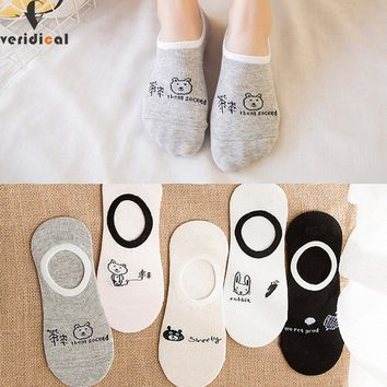 VERIDICAL 10pieces=5pairs=1lot spring and summer invisible sock woman breathable cool Sock Slippers meias mulheres boat socks