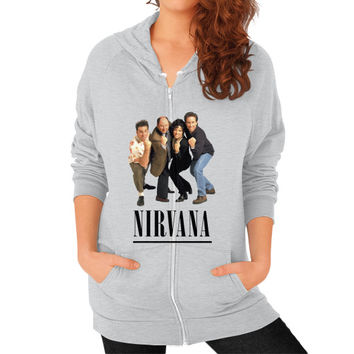 Nirvana Seinfeld Zip Hoodie (on woman) Shirt