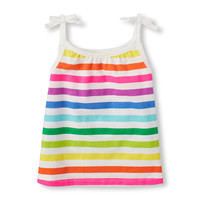 Toddler Girls Sleeveless Printed Tie Strap Top | The Children's Place