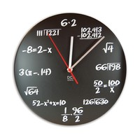 Math Pop Quiz Clock- Chalkboard