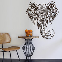 Wall decal Sticker Vinyl Mural art decor interior Ganesh Indian Ganesha Elephant Lotos Buddha zvr1960