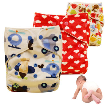 Washable Baby Cloth Diapers Cover Waterproof Reusable newbaby Cloth nappies warm winter training pants diaper for babies