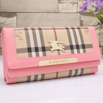 Burberry Women Leather Buckle Wallet Purse-13