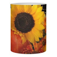 Thanksgiving LED Candle/Sunflower and Pumpkins Flameless Candle