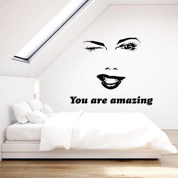 Vinyl Wall Decal Beauty Salon Inspiration Woman Quote Bedroom Art Decor Stickers Mural (ig5275)