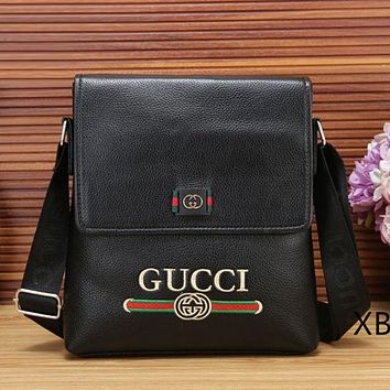 GUCCI New Fashion Leather Office Bag Couple Briefcase Crossbody Shoulder Bag Satchel Bag