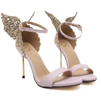 Sia sequins butterfly sandal heels