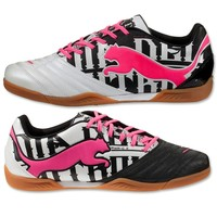 PUMA PowerCat 3 Graphic IT (Metallic White/Black/Fluo Pink) - WorldSoccerShop.co