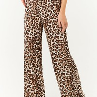 Leopard Print High-Waisted Pants