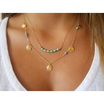 Layered Necklaces with a Boho Style