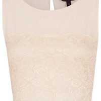 Lace Panel Chiffon Crop Top - Going Out - Collections - Topshop USA