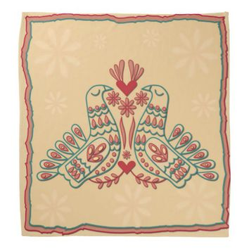 Romantic Peacock Couple Bandanas