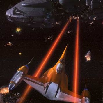 Star Wars Phantom Menace Naboo N-1 Starfighter Poster 24x36