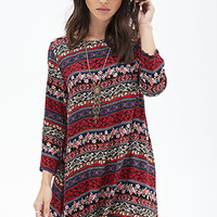 Floral Tribal Print Tunic