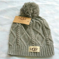 """UGG""hot sale warm hat Rose red"