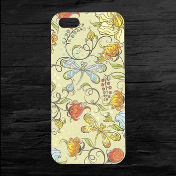 Customized Phone Case Dragonfly Flowers Case for Apple iPhone 4 4s 5 5s 5c 6 6s plus Mobile Cover