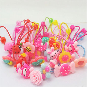2017 New Rushed Cute Baby Headband Candy Bow Hair Accessories Flower Headwear Scrunchy Holders Girls Band Pattern Tie Ropes