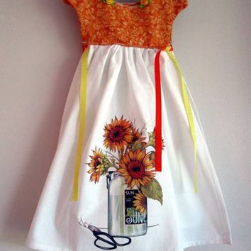 Sunflowers Kitchen Oven Dress Towel - Only One Available!