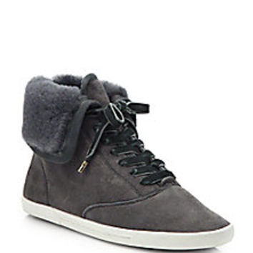 Joie - Marist Suede High-Top Sneakers - Saks Fifth Avenue Mobile