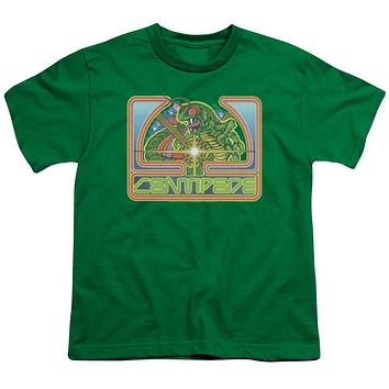 Atari Kids T-Shirt Centipede Retro Game Kelly Green Tee