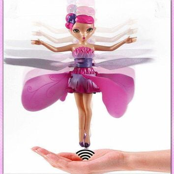 Cute Plastic Funny Game Rc Flying Fairy Princess Doll Infrared Induction Toys Gift