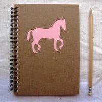 Horse Peek-a-boo- 5 x 7 journal- Your choice Peek a boo color