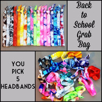 Back To School Headband Grab Bag by Elastic Hair Bandz on Etsy