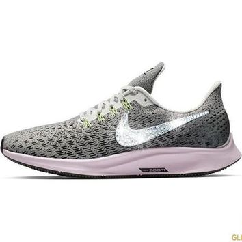 Nike Air Zoom Pegasus 35 + Crystals - Vast Grey Pink Foam Lim. cf6d3d86f3