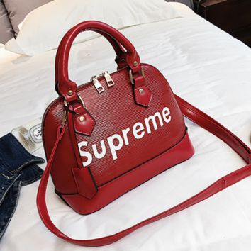 Supreme Women Shopping Fashion Bag Leather Tote Handbag Shoulder Bag