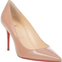 Patent Decollete Pumps