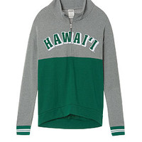 University Of Hawaii High/Low Half-Zip - PINK - Victoria's Secret