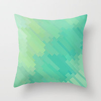 A Q U A Throw Pillow by Deniz Erçelebi