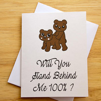 Boyfriend Gift, Naughty Card, Girlfriend Card, Sexual Card, Card For Him, Doggy Style, Erotic Card, Birthday Card, Stand Behind You, Me
