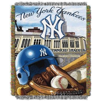 New York Yankees MLB Woven Tapestry Throw (Home Field Advantage) (48x60)