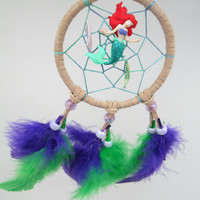Disney Ariel the Little Mermaid inspired dreamcatcher- small beige
