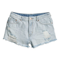 Trashed denim short – van H&M