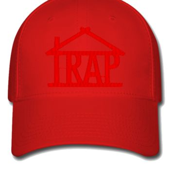 trap house embroidery hat - Flexfit Baseball Cap