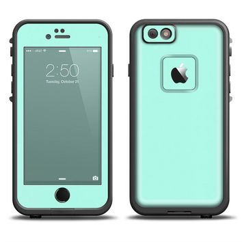 The Subtle Solid Green Apple Iphone 6 Lifeproof Fre Case Skin Set