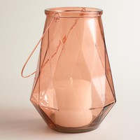 Small Copper Faceted Glass Aria Lantern