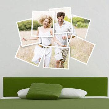 Polaroid custom photo  decal for housewares by decalSticker