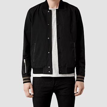 Mens Acre Bomber Jacket (Black) | ALLSAINTS.com