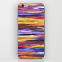 Purple Waves iPhone Skin by mariameesterart