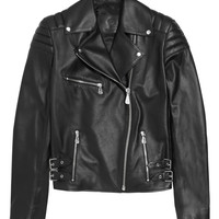 McQ Alexander McQueen - Quilted leather biker jacket