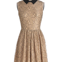 ModCloth Mid-length Sleeveless A-line Dessert and Drinks Dress