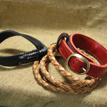 Custom Leather Dog Collar, made to your measurements