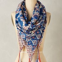 Shefali Square Scarf by Anthropologie in Blue Size: One Size Scarves